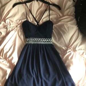 Homecoming/formal dress navy blue size 1/2